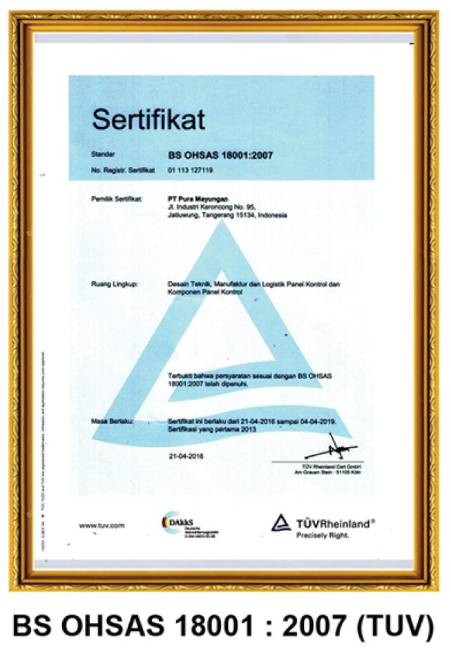 BS OHSAS 18001:2007 (TUV)